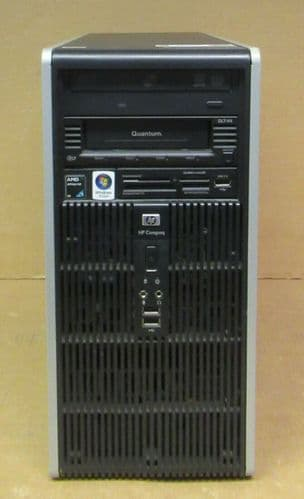 HP Compaq dc5850 Tower PC Athlon 4450B 2.3GHz 8GB Ram 250GB HDD Quantum DLT-V4